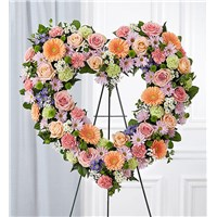 Always-Remember-Floral-Heart-Tribute-Pastel-Stand