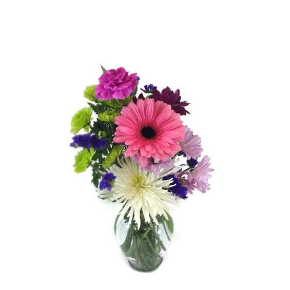 Gerbera-Daisy-mixed-flower-vase